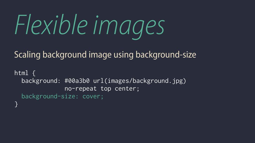 Flexible images Scaling background image using ...