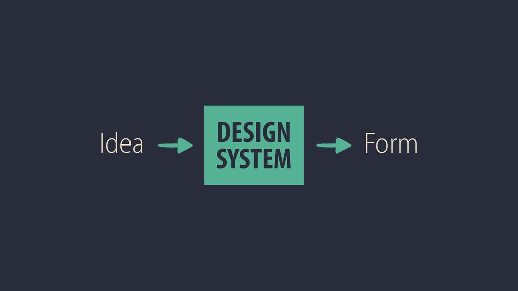 Idea DESIGN SYSTEM Form