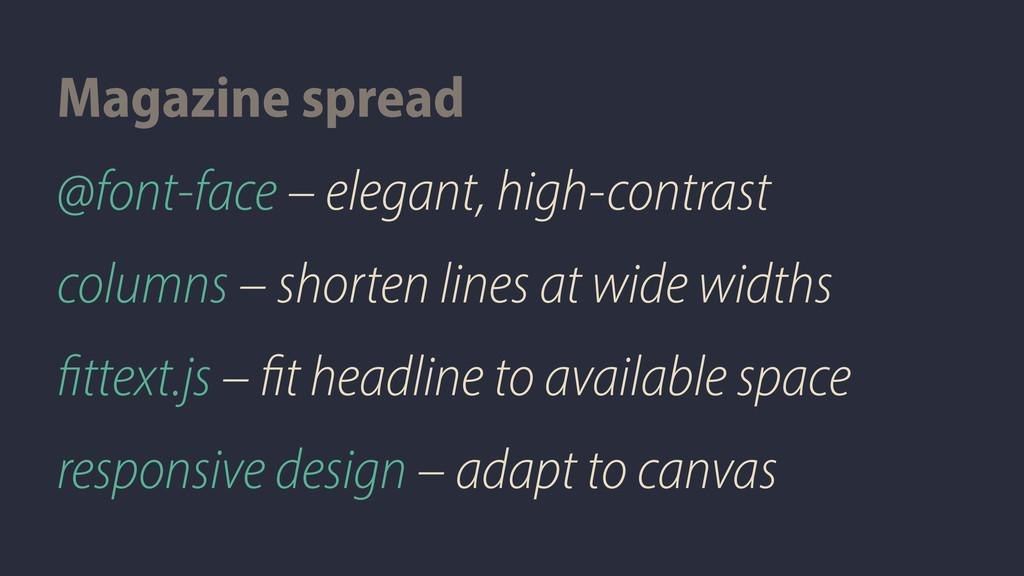 @font-face – elegant, high-contrast columns – s...
