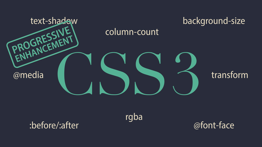 CSS3 @font-face @media background-size :before/...