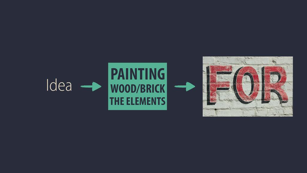 Idea PAINTING WOOD/BRICK THE ELEMENTS