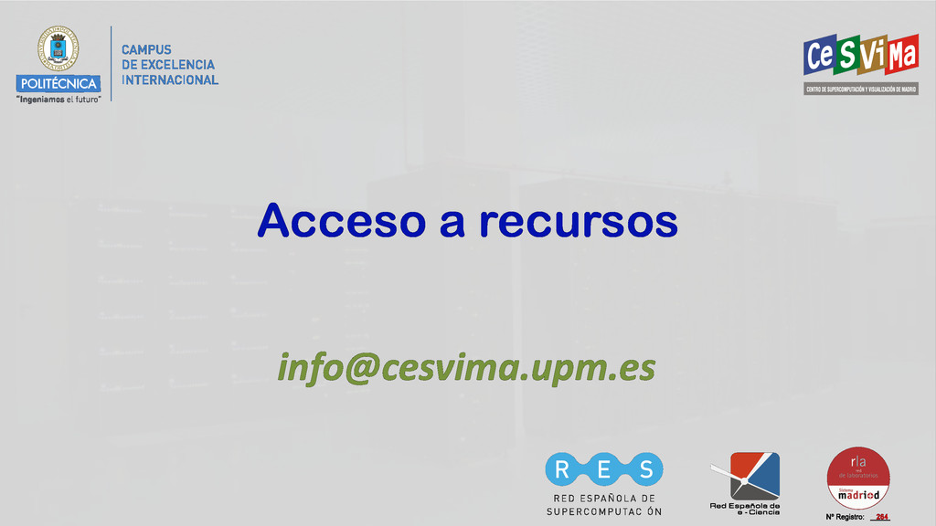 Acceso a recursos info@cesvima.upm.es