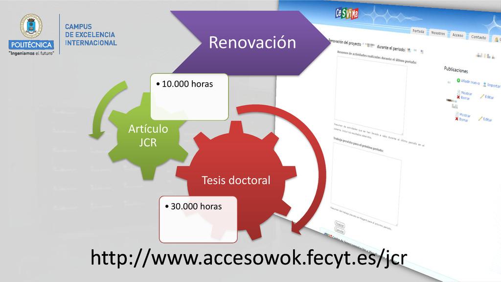 http://www.accesowok.fecyt.es/jcr Renovación Te...