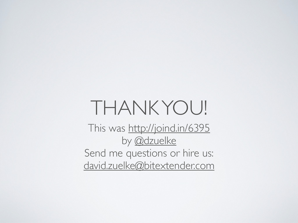THANK YOU! This was http://joind.in/6395 by @dz...
