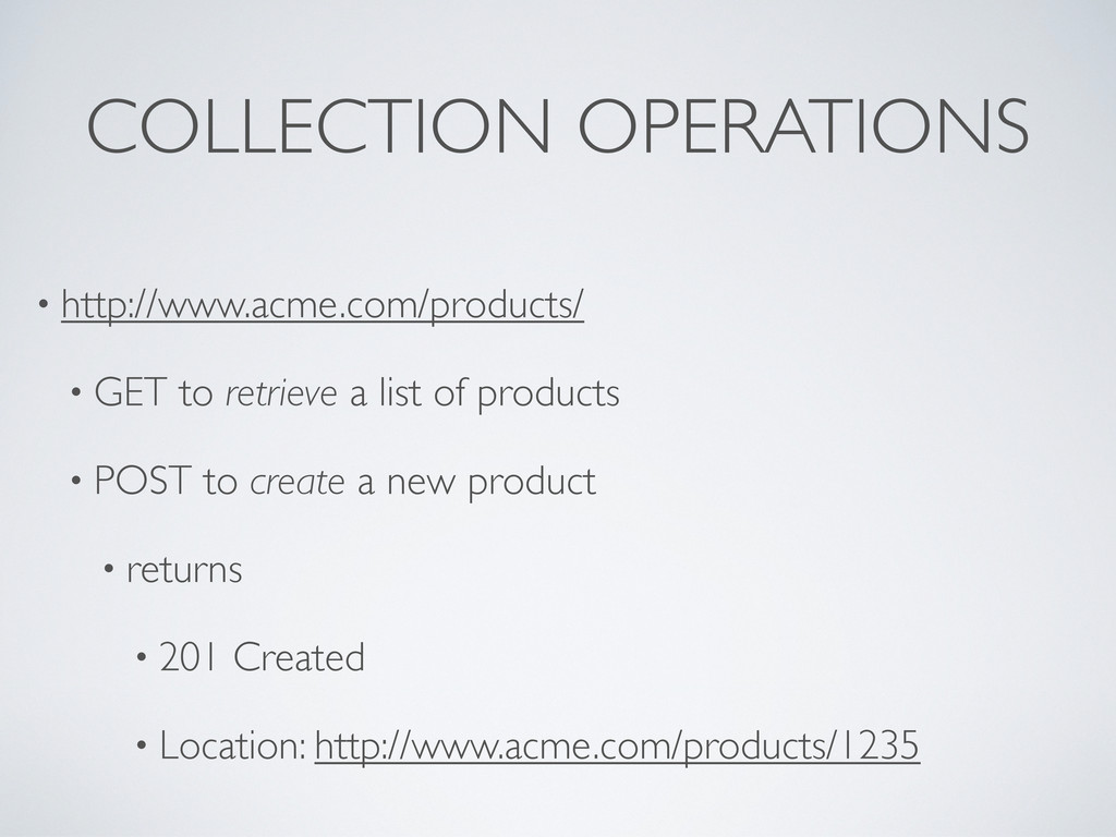 COLLECTION OPERATIONS • http://www.acme.com/pro...
