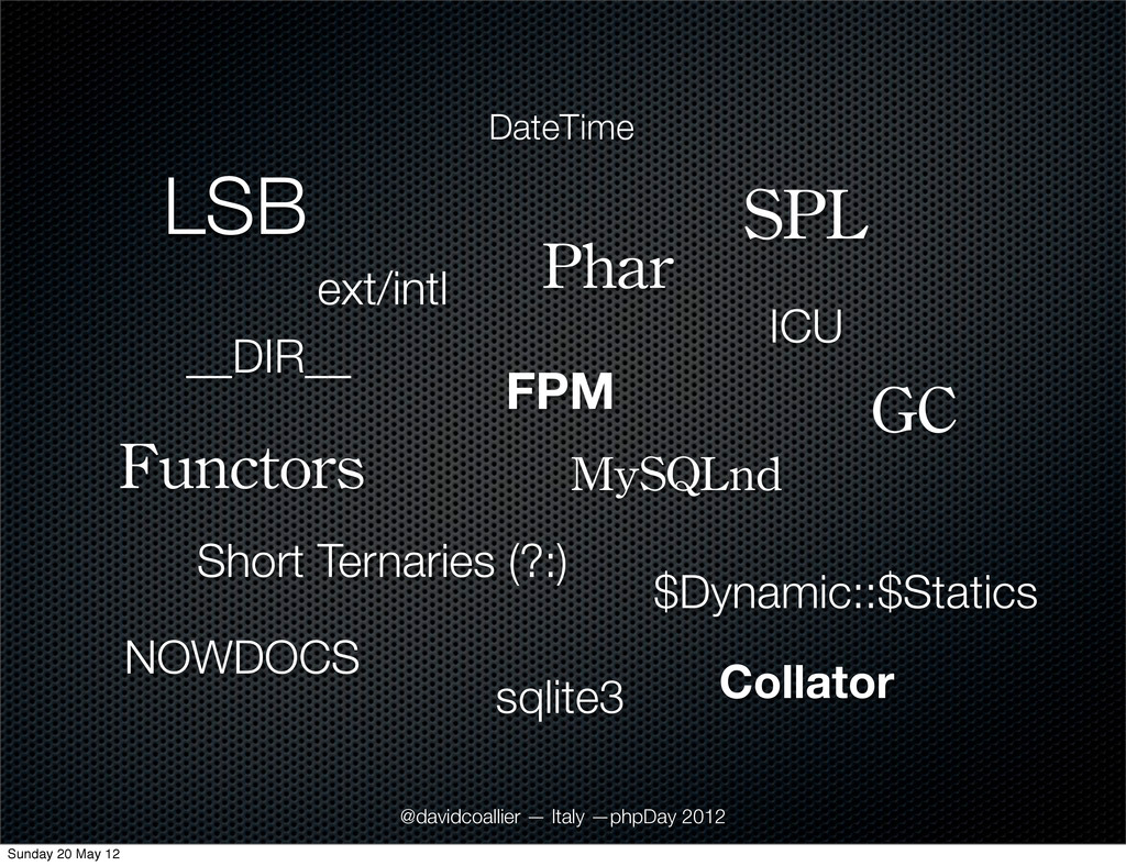 LSB GC Functors Phar $Dynamic::$Statics SPL Sho...