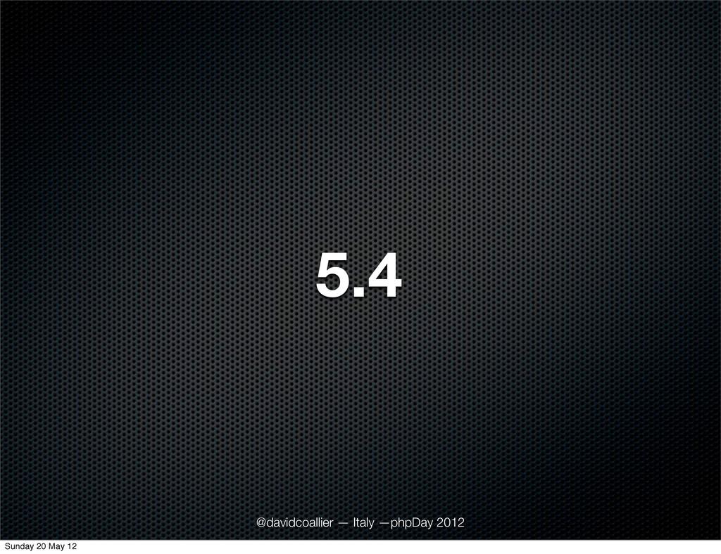 5.4 @davidcoallier — Italy —phpDay 2012 Sunday ...