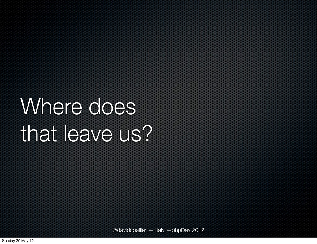 Where does that leave us? @davidcoallier — Ital...