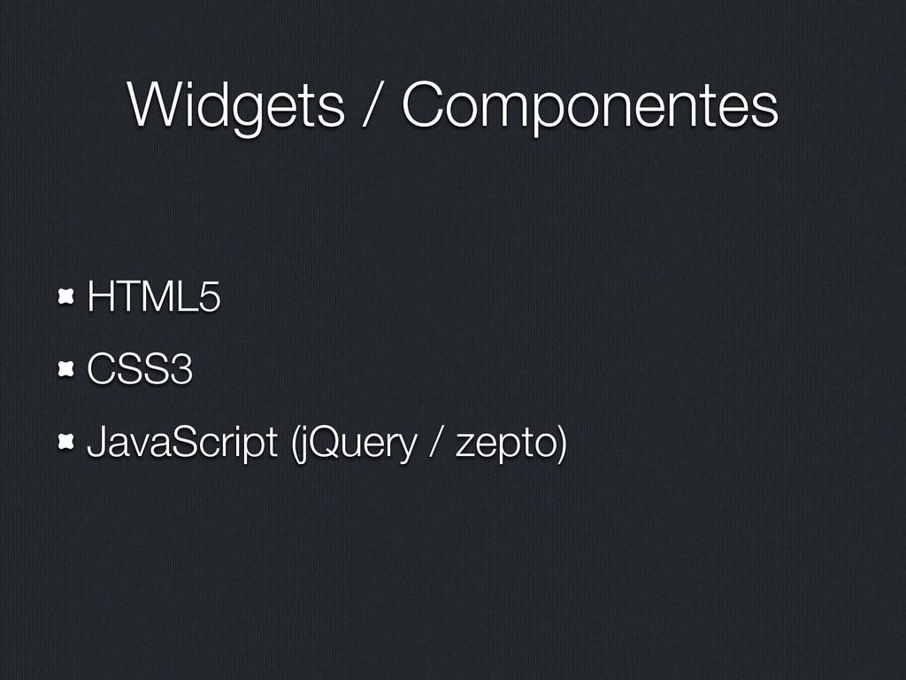Widgets / Componentes HTML5 CSS3 JavaScript (jQ...