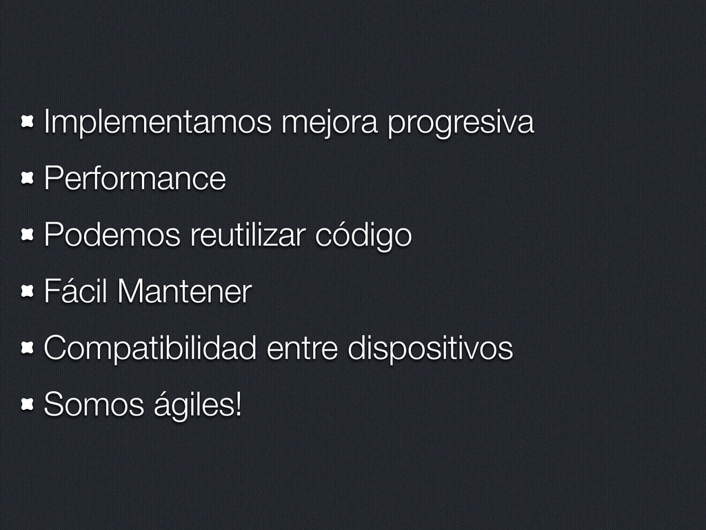 Implementamos mejora progresiva Performance Pod...