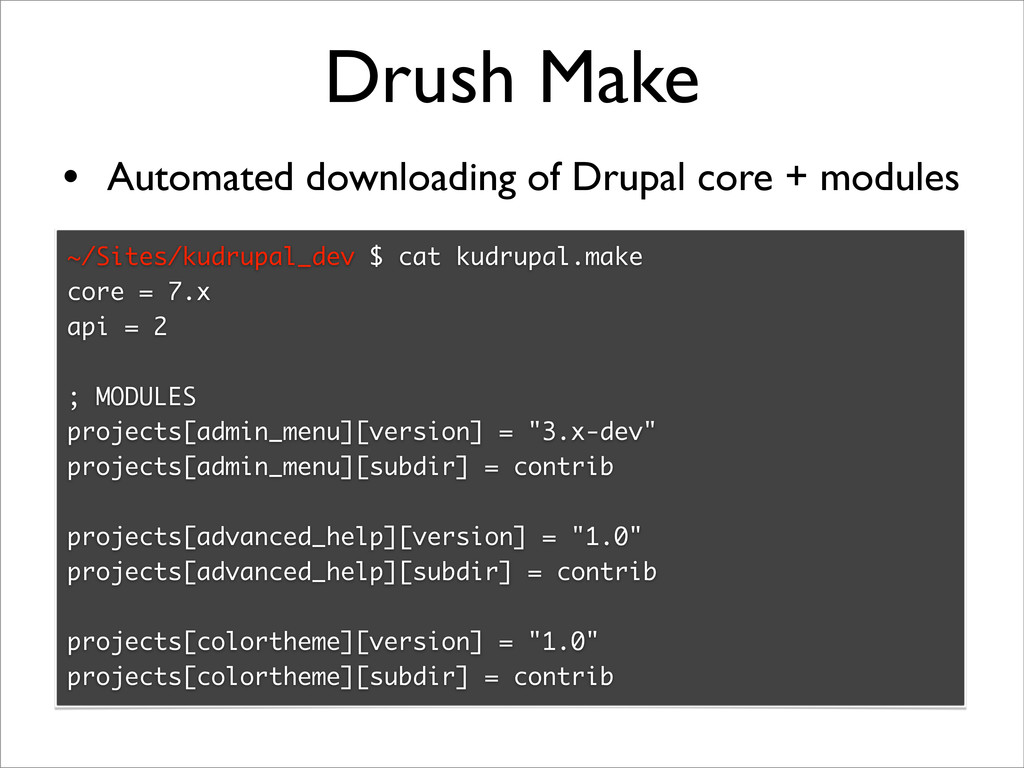 Drush Make • Automated downloading of Drupal co...
