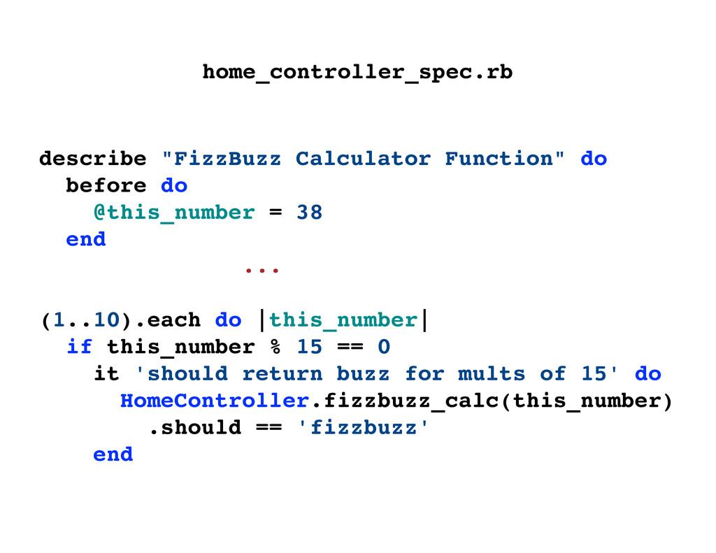 """describe """"FizzBuzz Calculator Function"""" do befo..."""