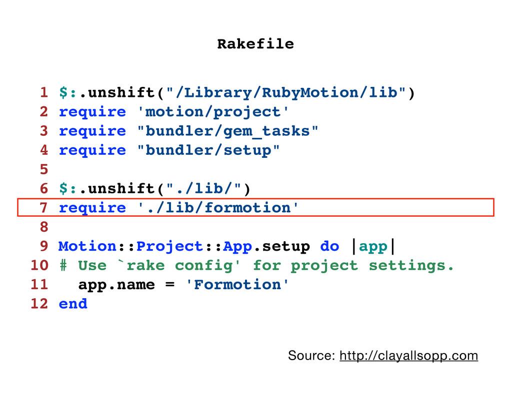 """1 $:.unshift(""""/Library/RubyMotion/lib"""") 2 requi..."""