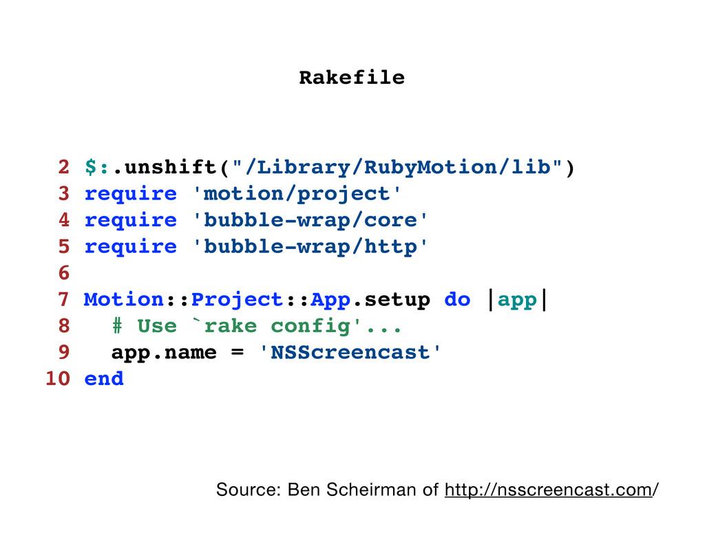 """2 $:.unshift(""""/Library/RubyMotion/lib"""") 3 requi..."""