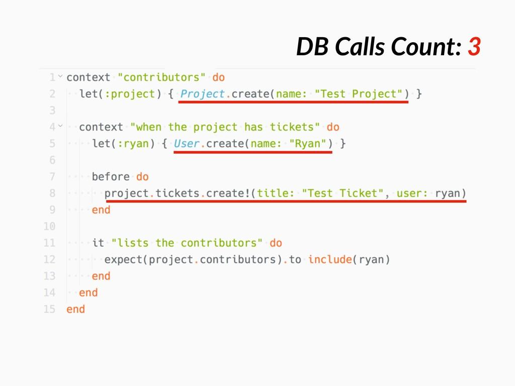 DB Calls Count: 3