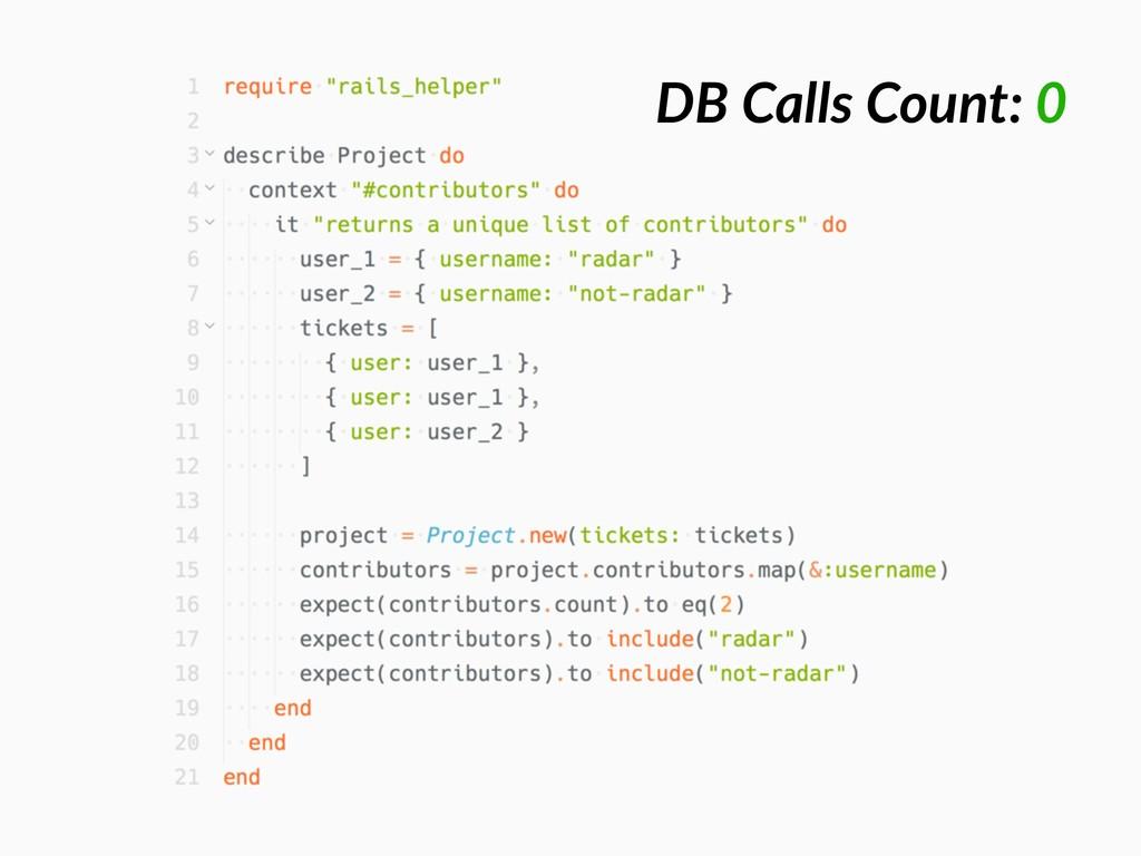 DB Calls Count: 0
