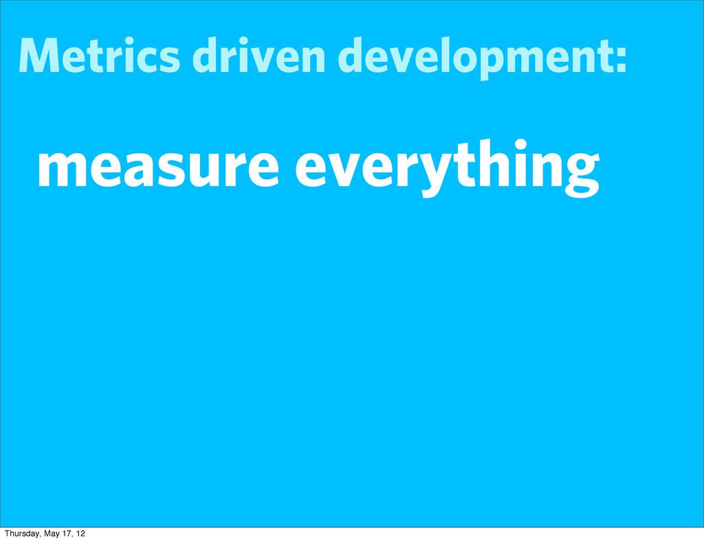 Metrics driven development: measure everything ...