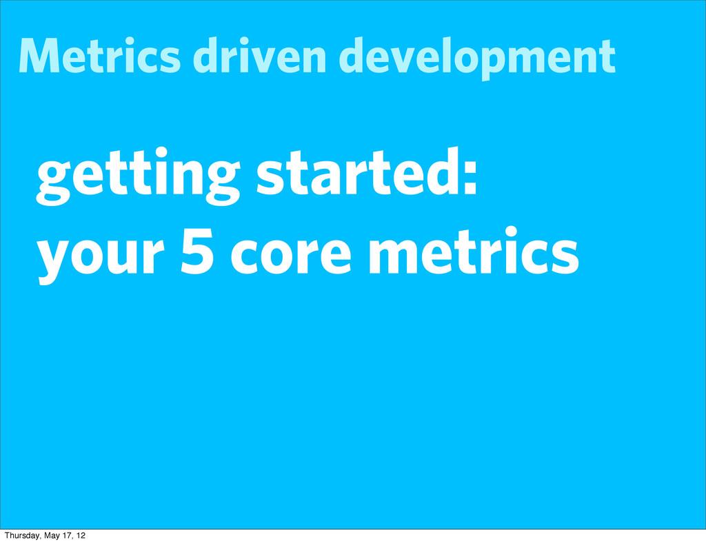 Metrics driven development getting started: you...