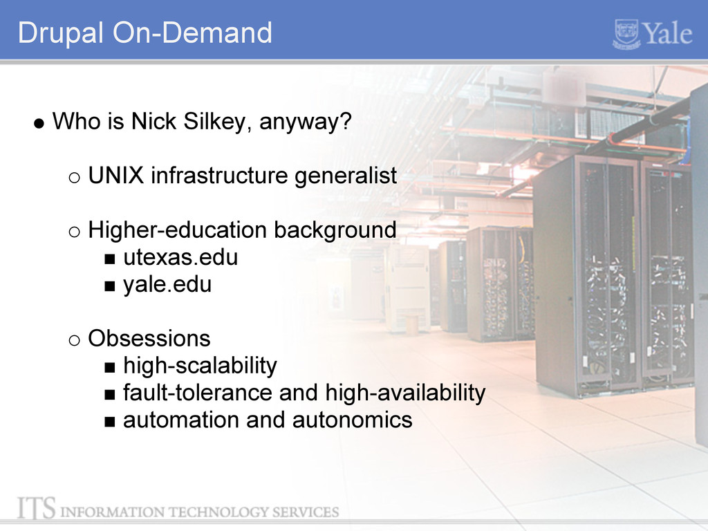 Drupal On-Demand Who is Nick Silkey, anyway? UN...