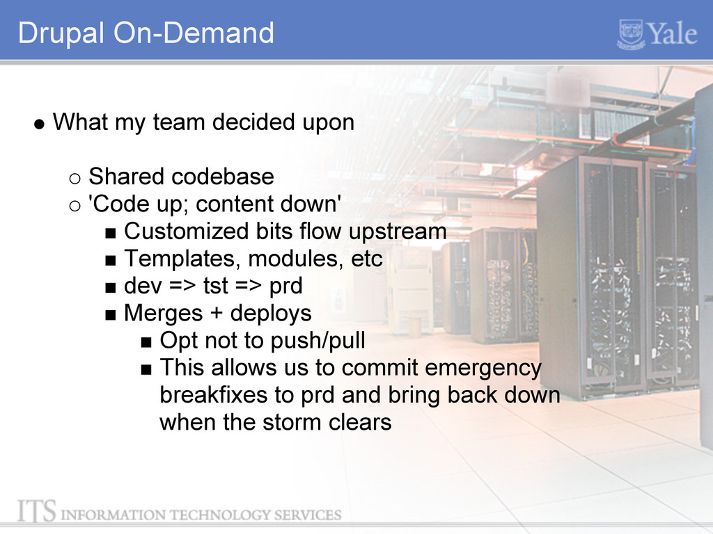 Drupal On-Demand What my team decided upon Shar...