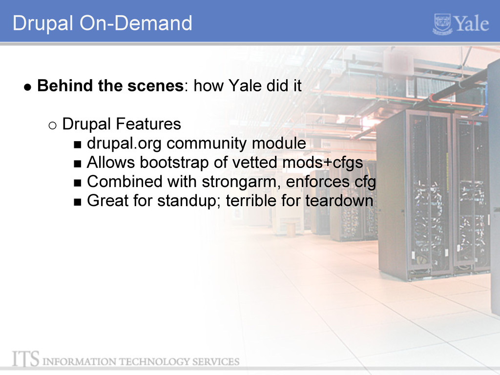 Drupal On-Demand Behind the scenes: how Yale di...