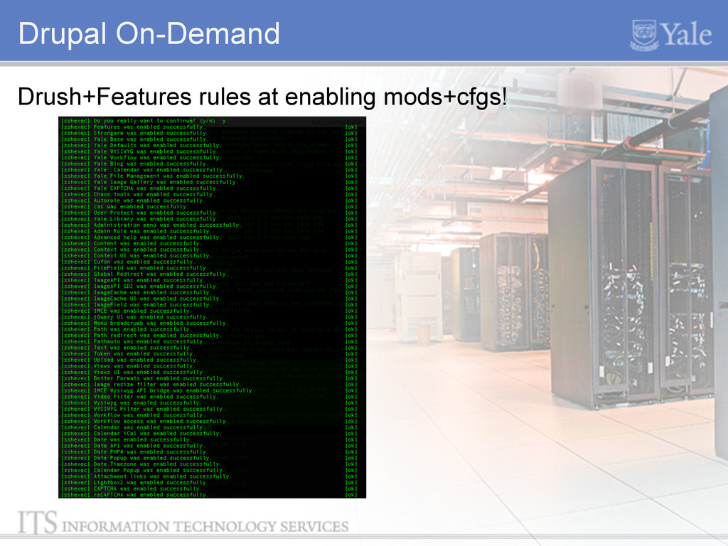 Drupal On-Demand Drush+Features rules at enabli...