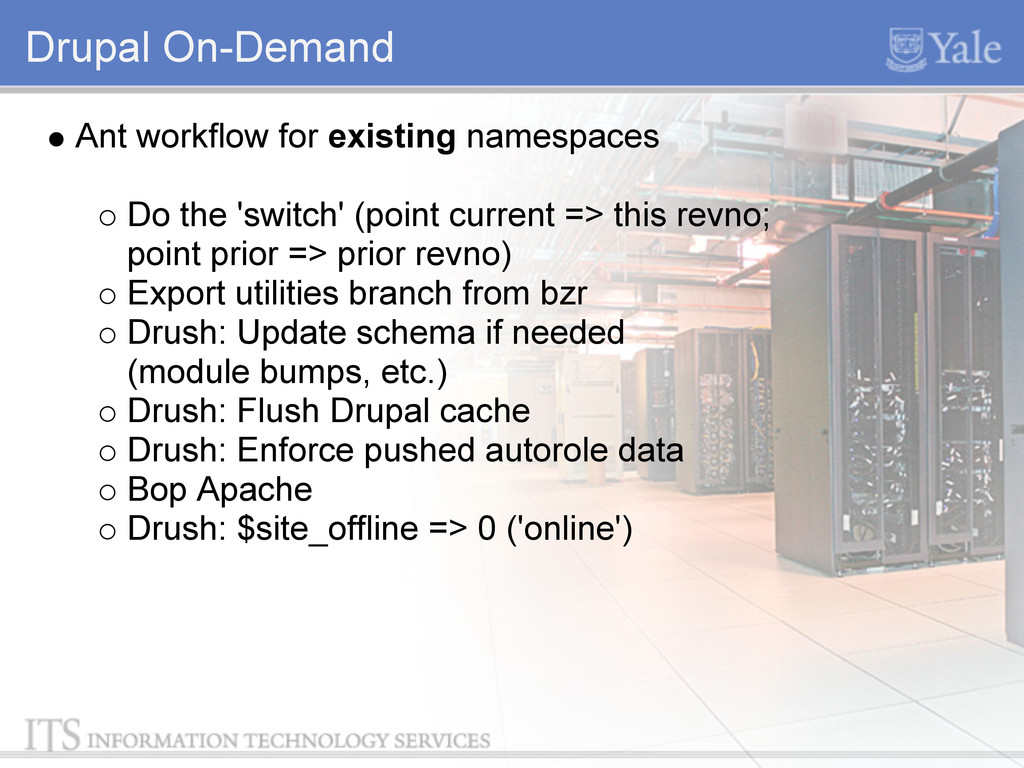 Drupal On-Demand Ant workflow for existing name...