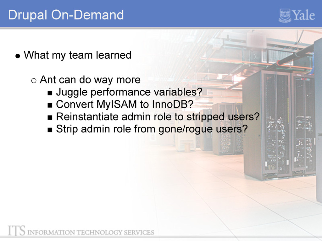 Drupal On-Demand What my team learned Ant can d...