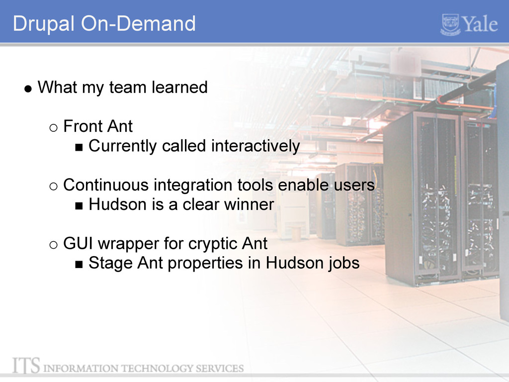 Drupal On-Demand What my team learned Front Ant...