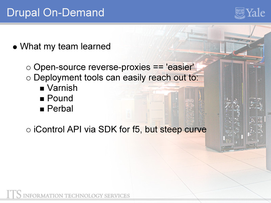 Drupal On-Demand What my team learned Open-sour...