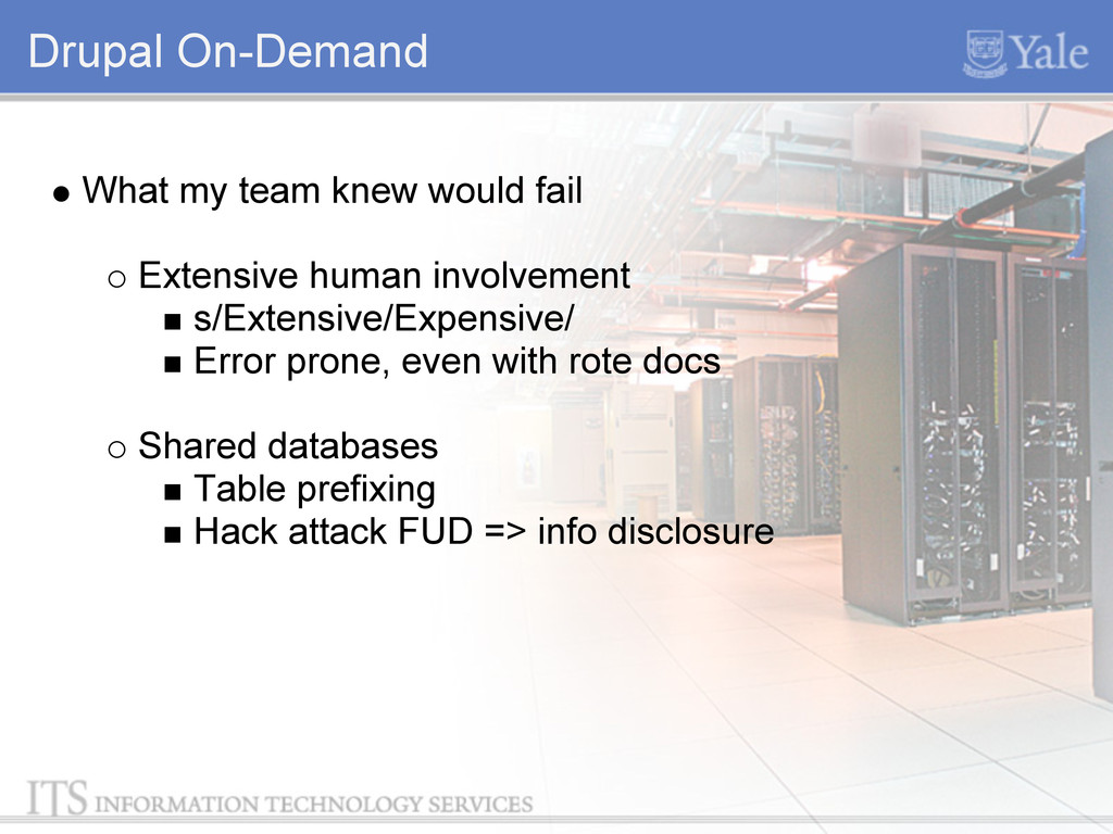 Drupal On-Demand What my team knew would fail E...