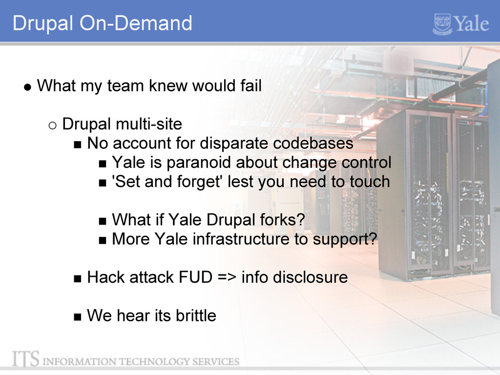 Drupal On-Demand What my team knew would fail D...