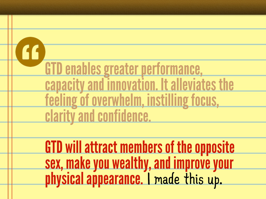 GTD enables greater performance, capacity and i...