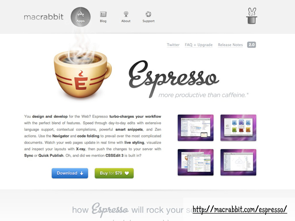 ESPRESSO • And many, many others http://macrabb...