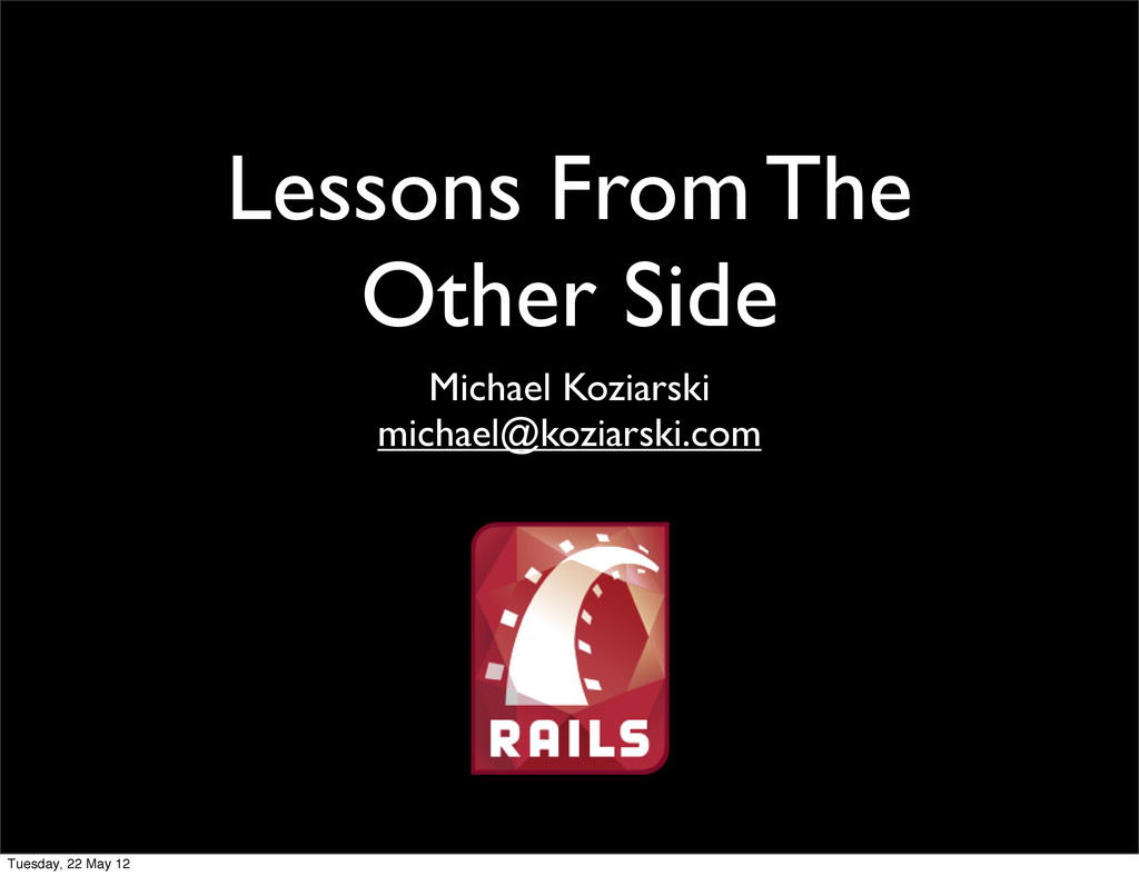 Lessons From The Other Side Michael Koziarski m...