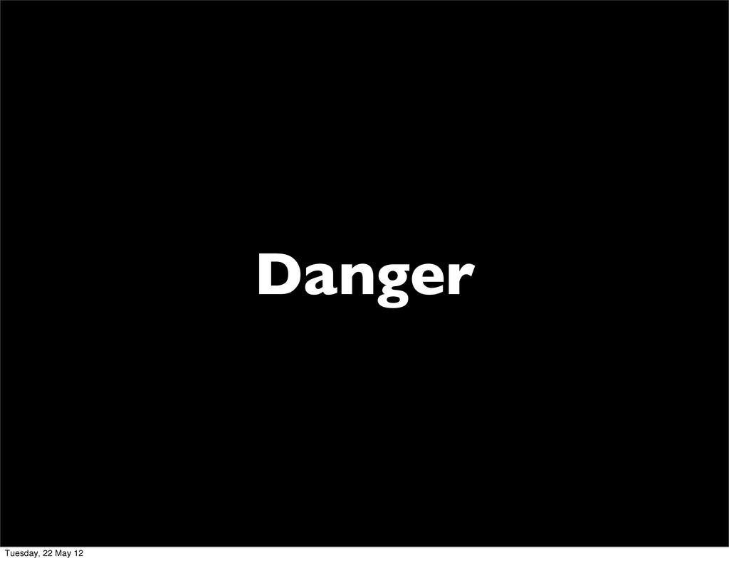 Danger Tuesday, 22 May 12