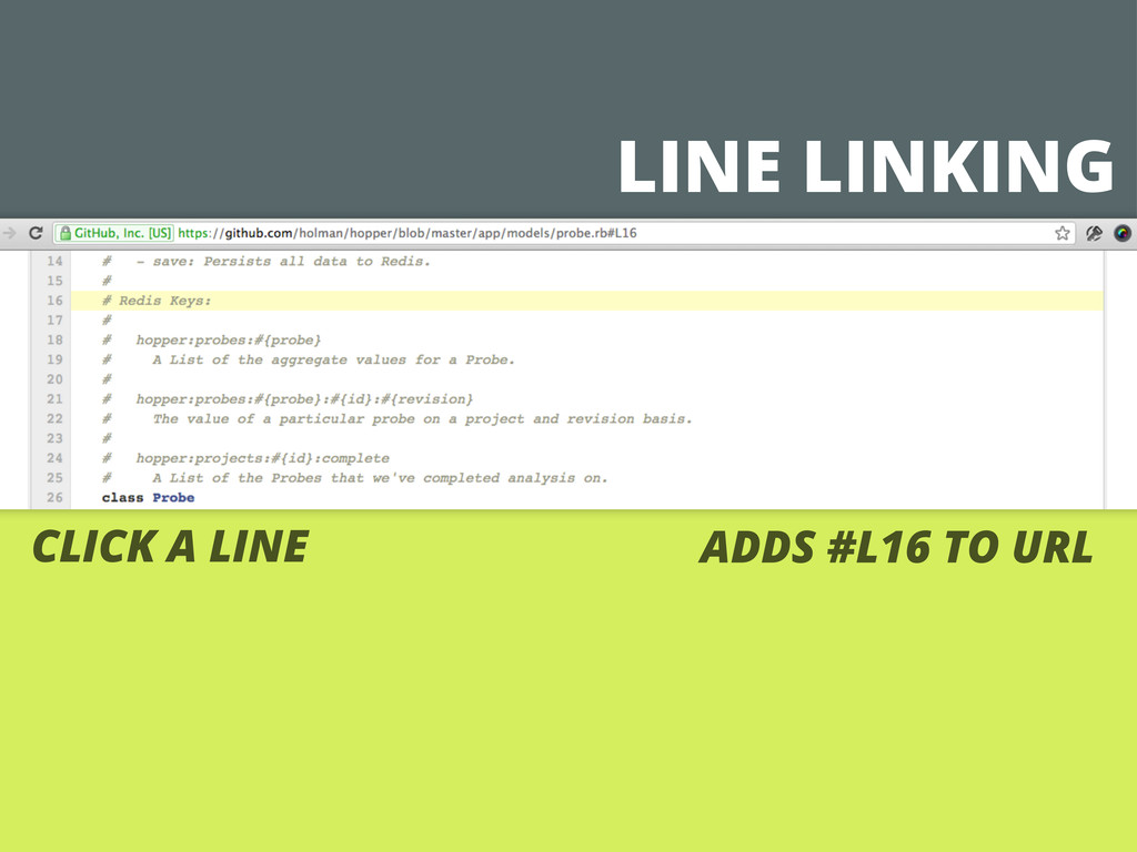 LINE LINKING CLICK A LINE ADDS #L16 TO URL