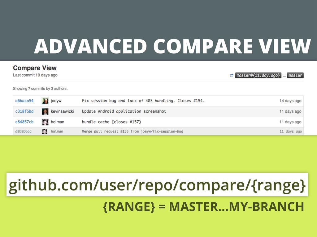 ADVANCED COMPARE VIEW github.com/user/repo/comp...