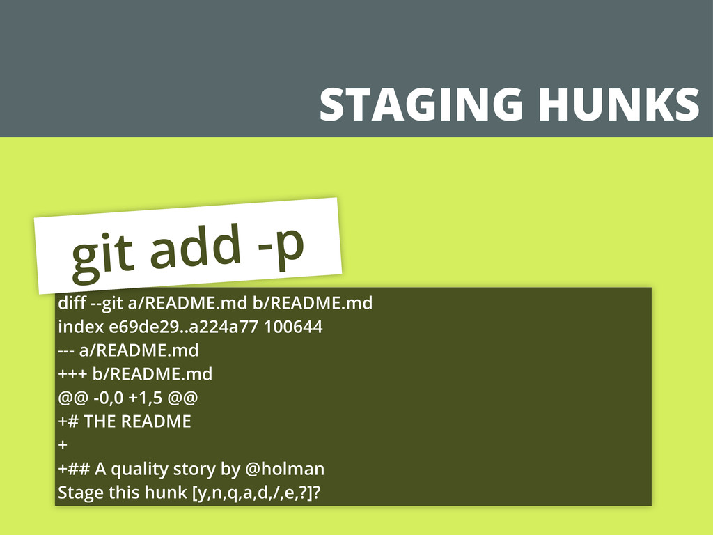 STAGING HUNKS diff --git a/README.md b/README.md...