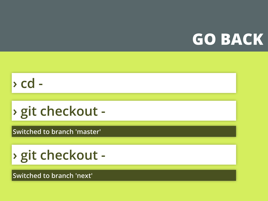 GO BACK › git checkout - Switched to branch 'ma...