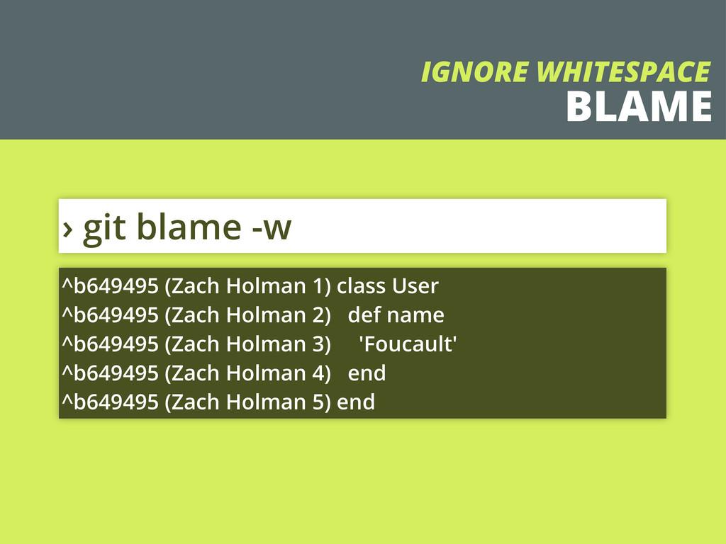 BLAME › git blame -w ^b649495 (Zach Holman 1) c...
