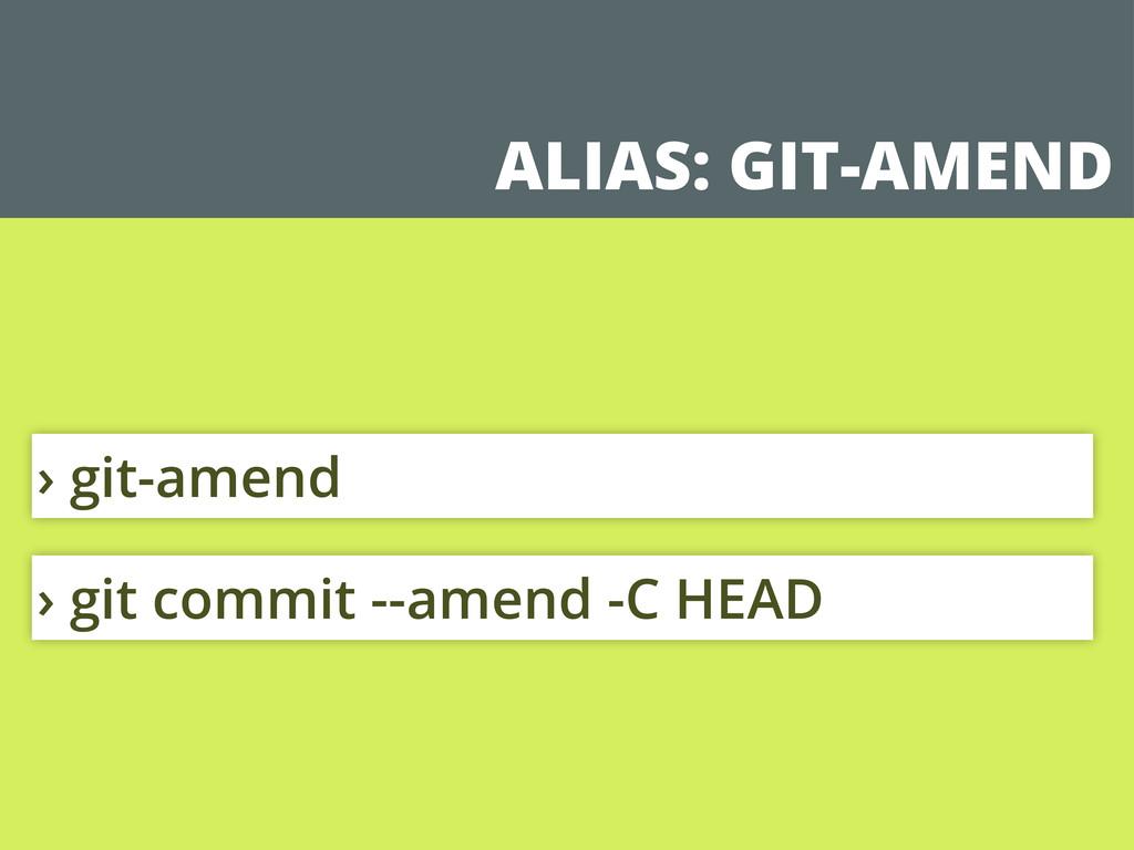 ALIAS: GIT-AMEND › git commit --amend -C HEAD ›...