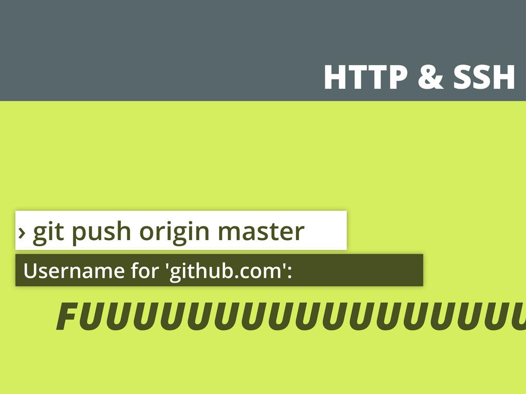 HTTP & SSH › git push origin master Username fo...