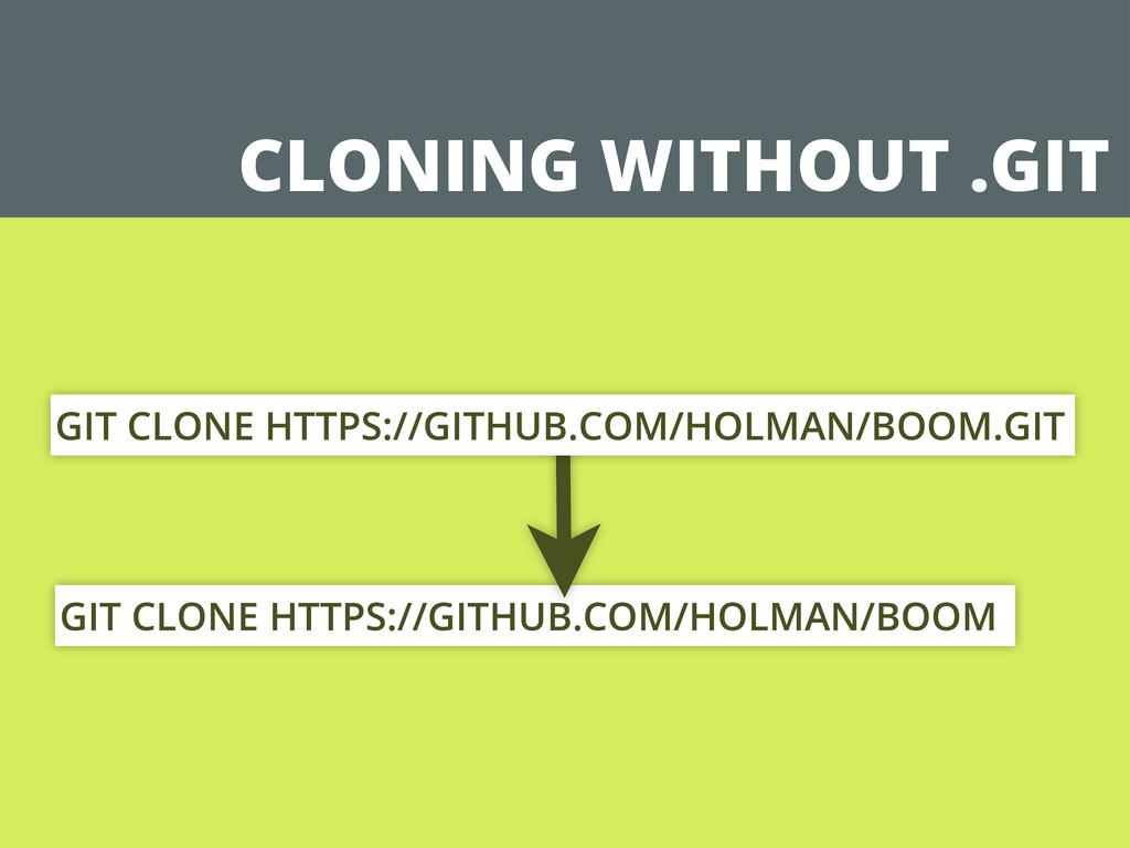 GIT CLONE HTTPS://GITHUB.COM/HOLMAN/BOOM CLONIN...