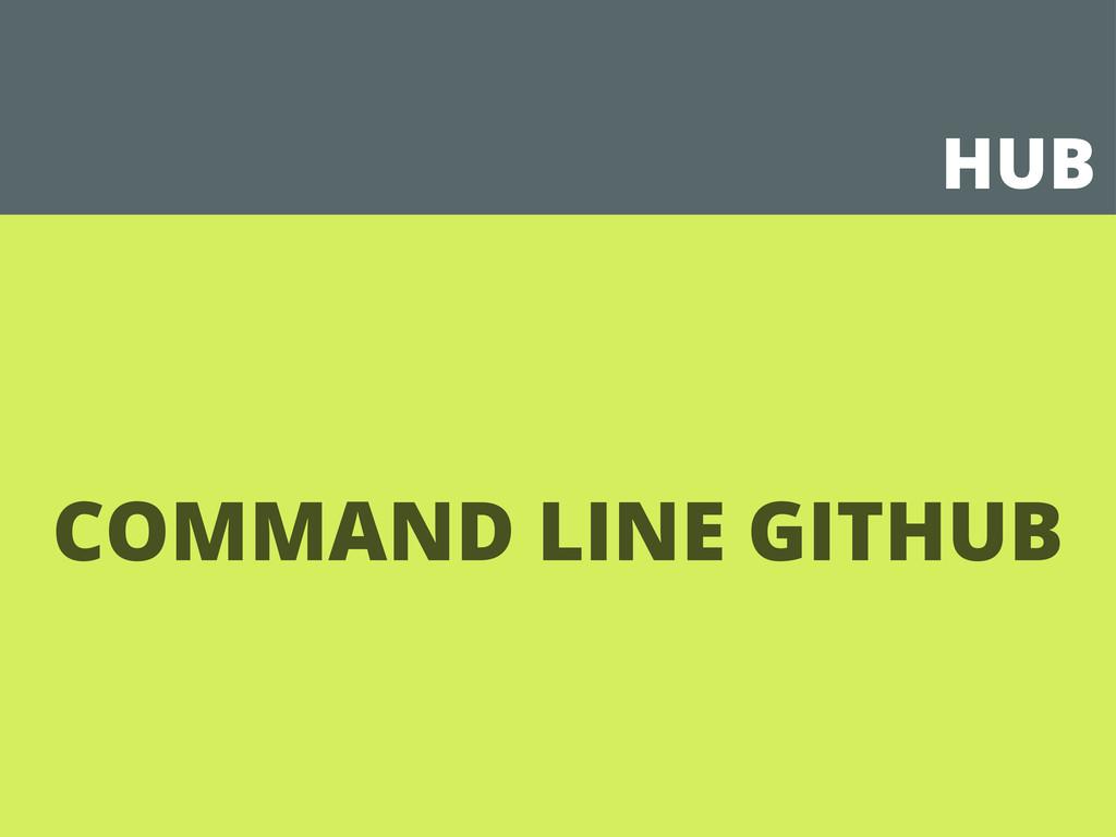 HUB COMMAND LINE GITHUB