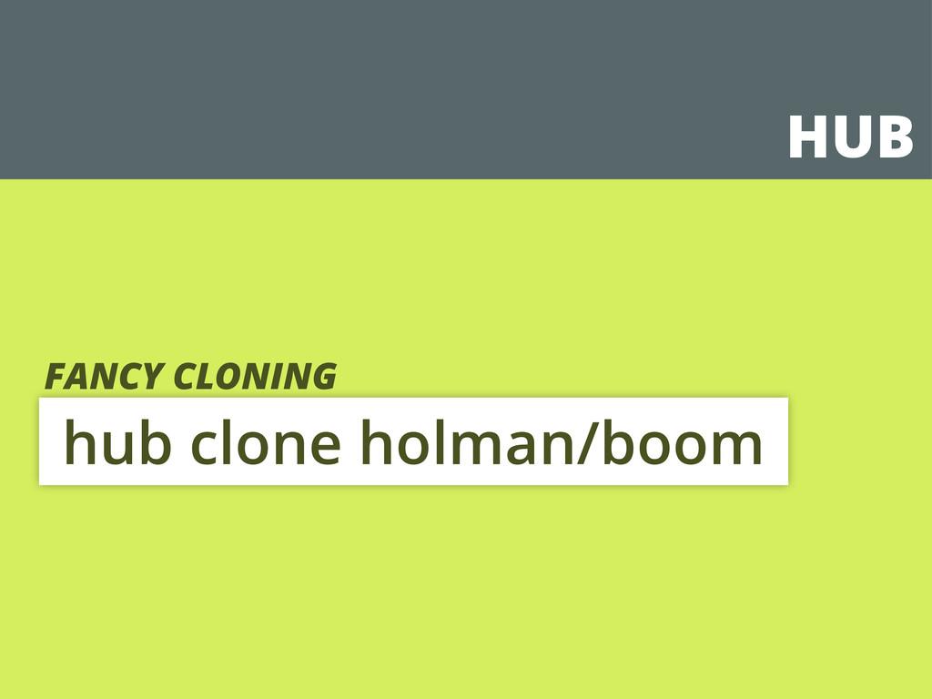 HUB hub clone holman/boom FANCY CLONING