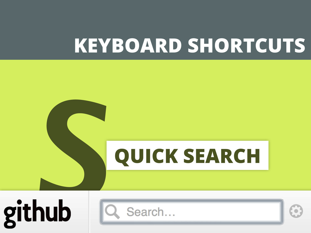 KEYBOARD SHORTCUTS SQUICK SEARCH