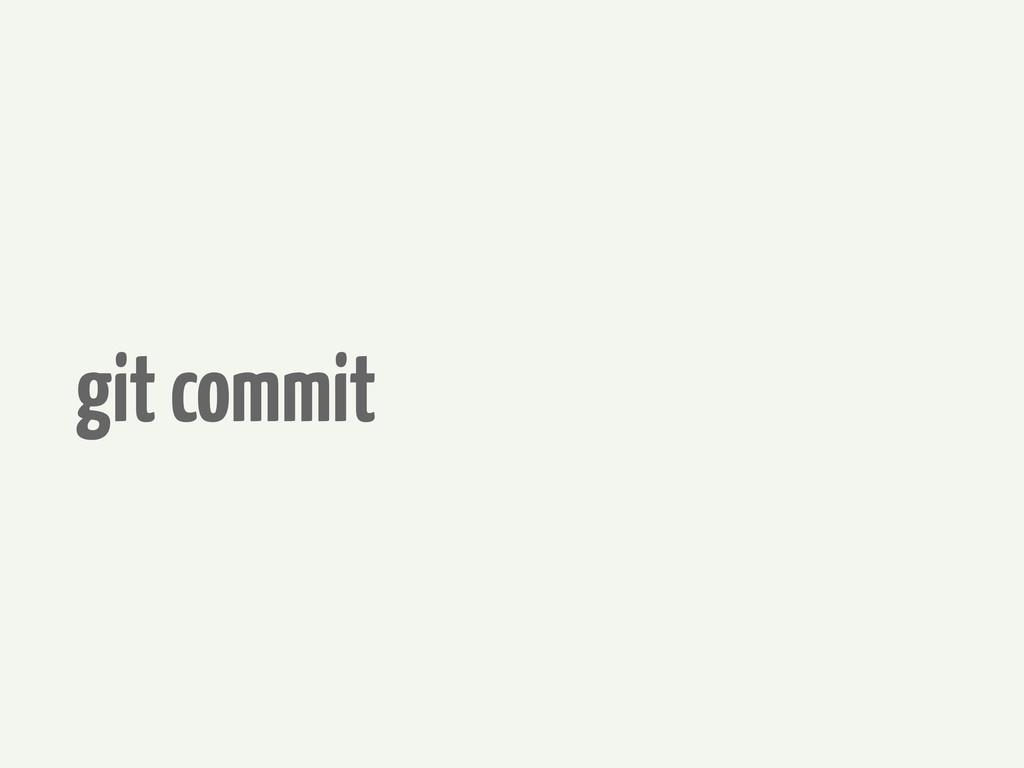 git commit