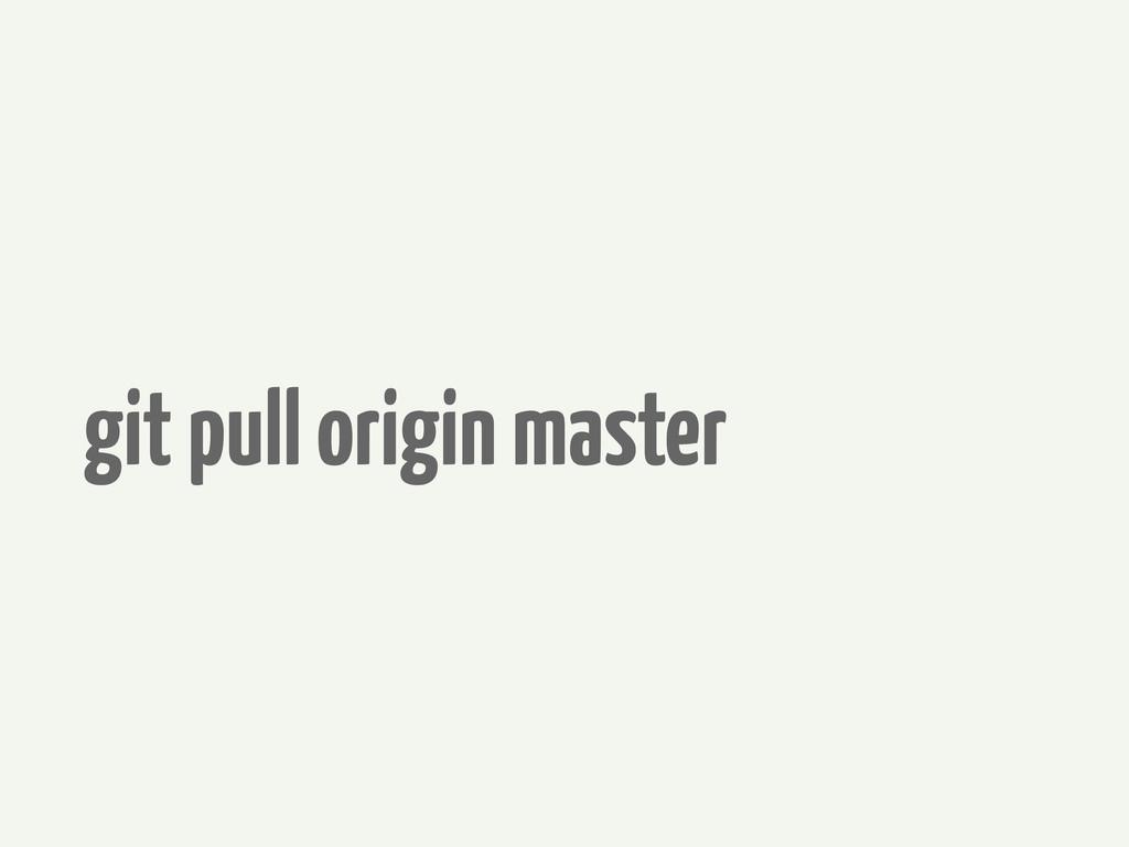 git pull origin master