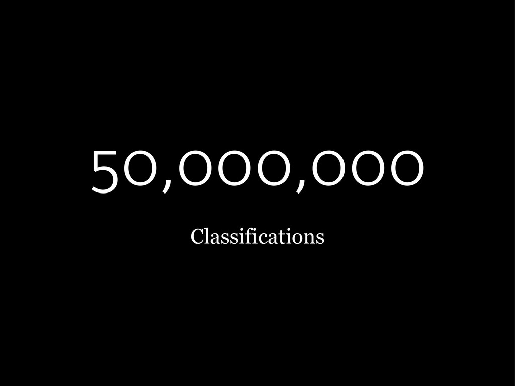 50,000,000 Classifications